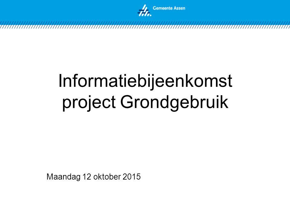 Informatiebijeenkomst project Grondgebruik