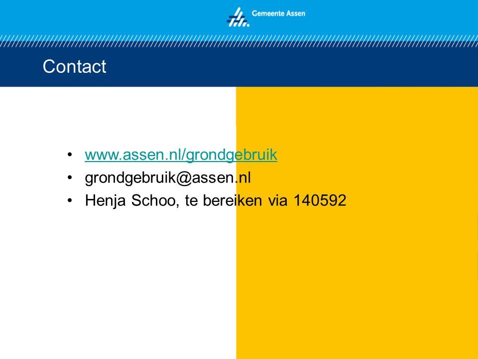 Contact www.assen.nl/grondgebruik grondgebruik@assen.nl