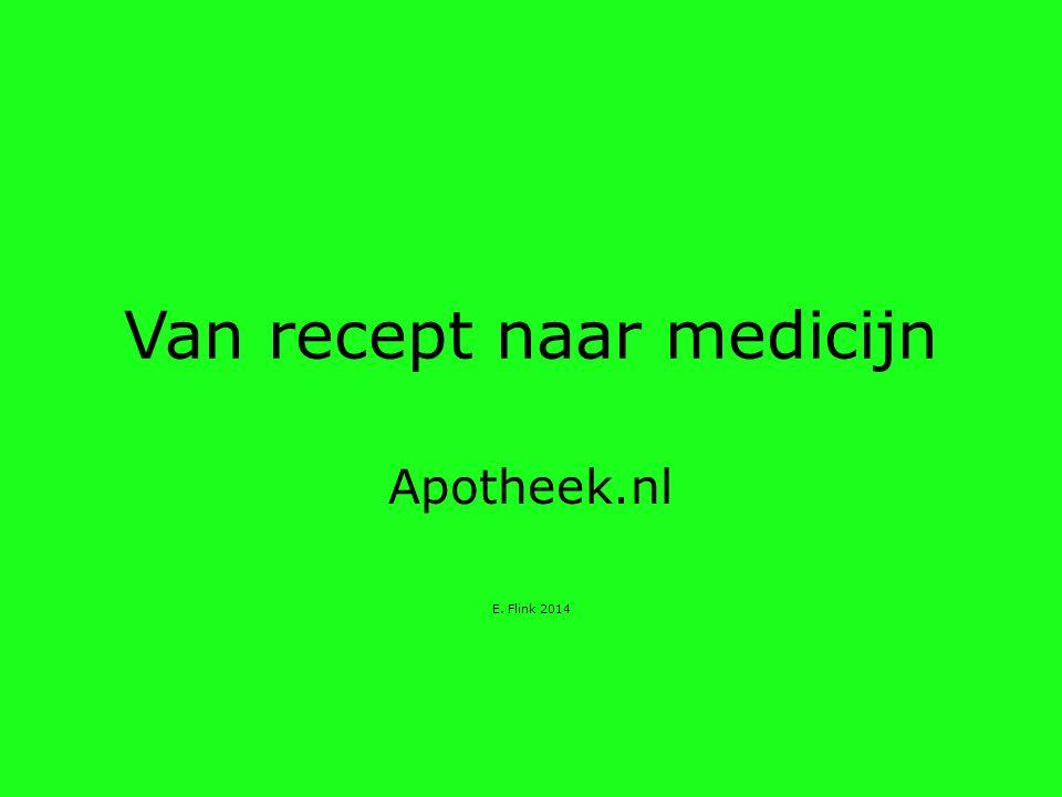 Van recept naar medicijn