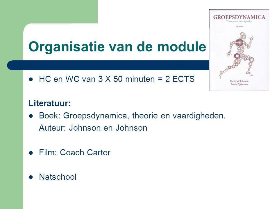 Organisatie van de module