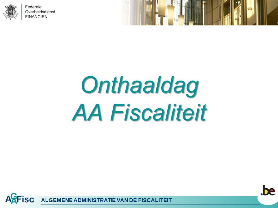 Onthaaldag AA Fiscaliteit