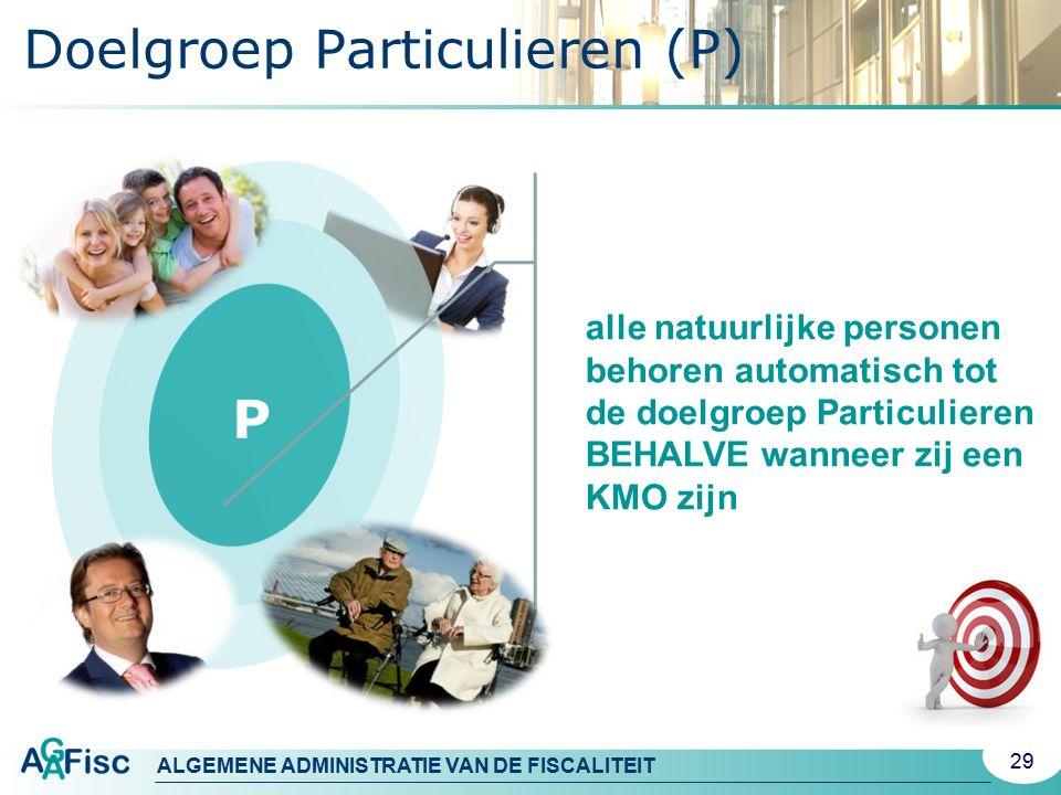 Doelgroep Particulieren (P)