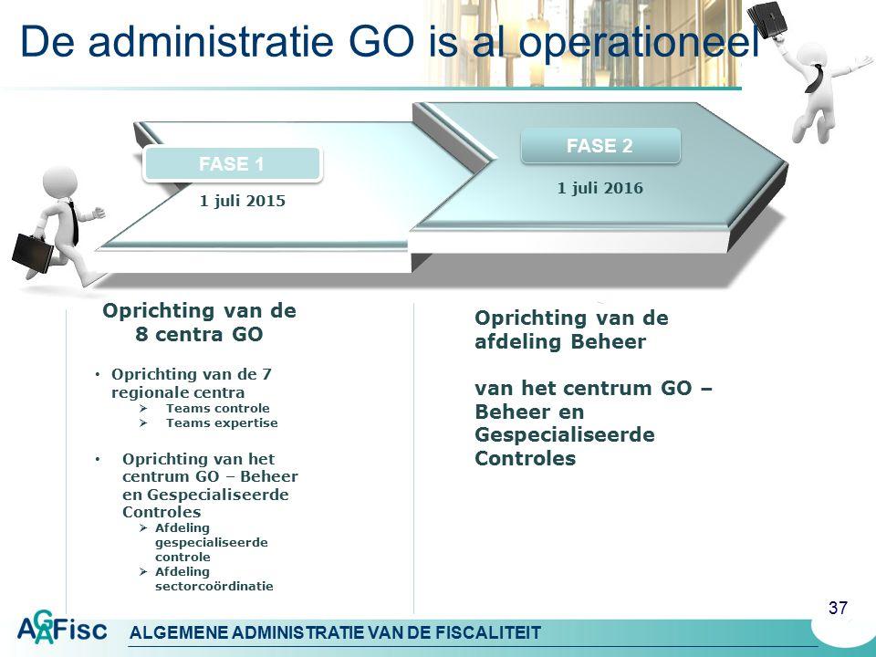 De administratie GO is al operationeel