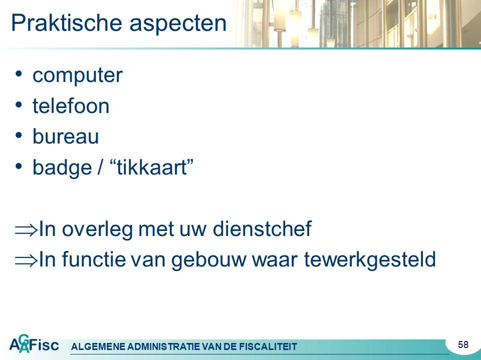 Praktische aspecten computer telefoon bureau badge / tikkaart