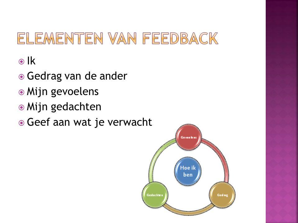 Elementen van feedback