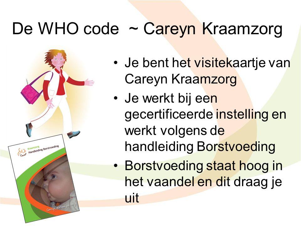 De WHO code ~ Careyn Kraamzorg
