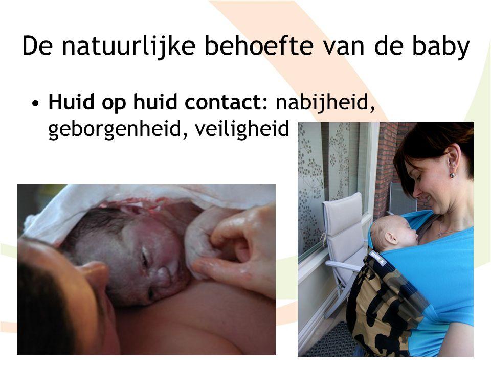 De natuurlijke behoefte van de baby
