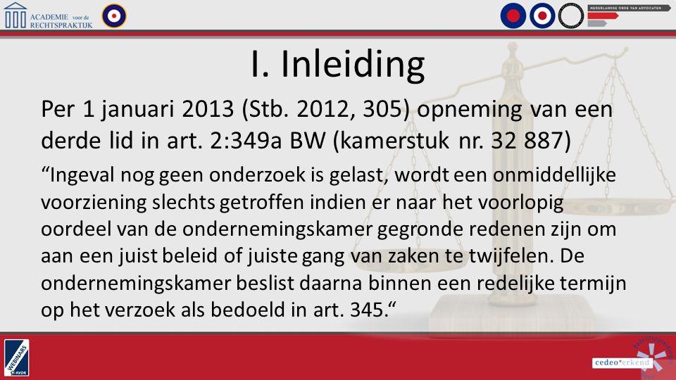 I. Inleiding Per 1 januari 2013 (Stb. 2012, 305) opneming van een derde lid in art. 2:349a BW (kamerstuk nr. 32 887)