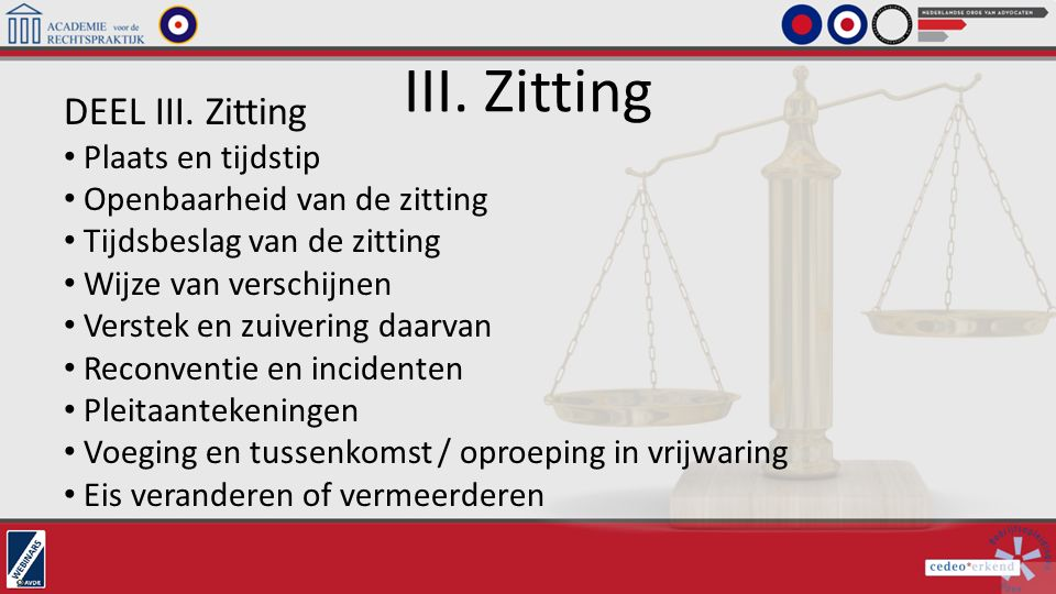 III. Zitting DEEL III. Zitting Plaats en tijdstip