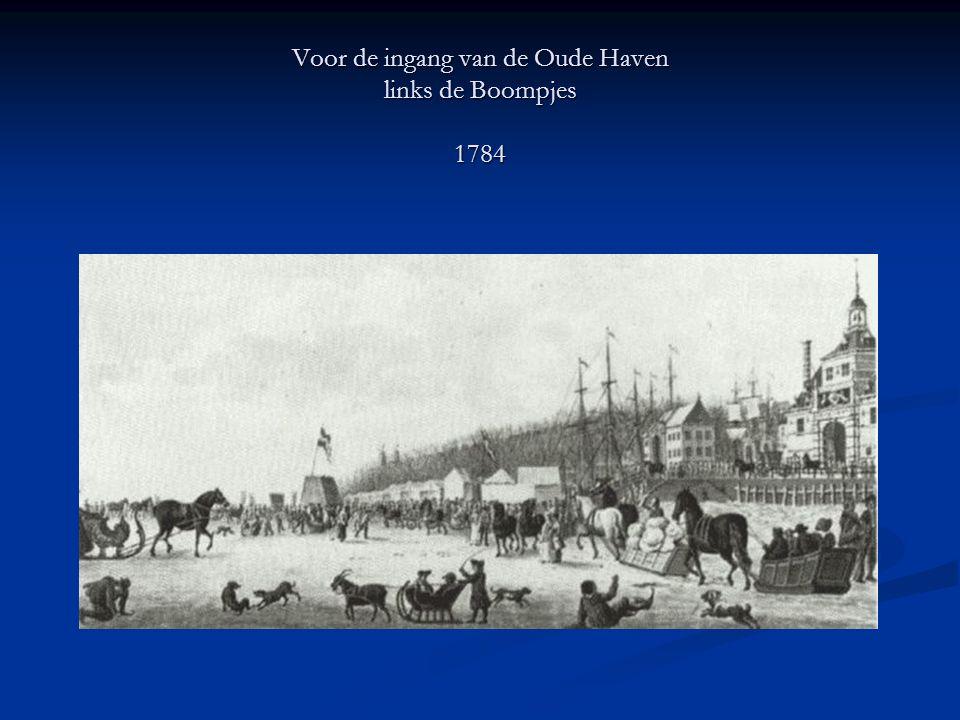 Voor de ingang van de Oude Haven links de Boompjes 1784