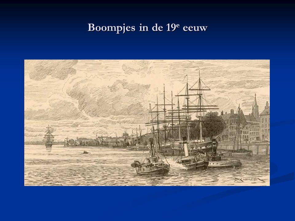 Boompjes in de 19e eeuw