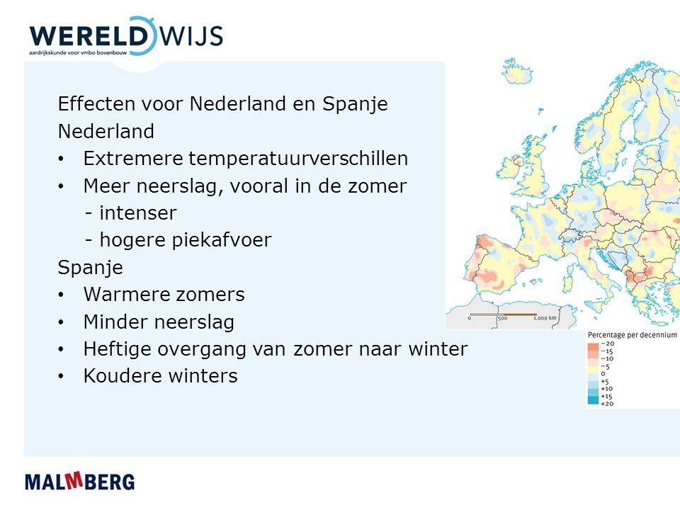 Effecten voor Nederland en Spanje