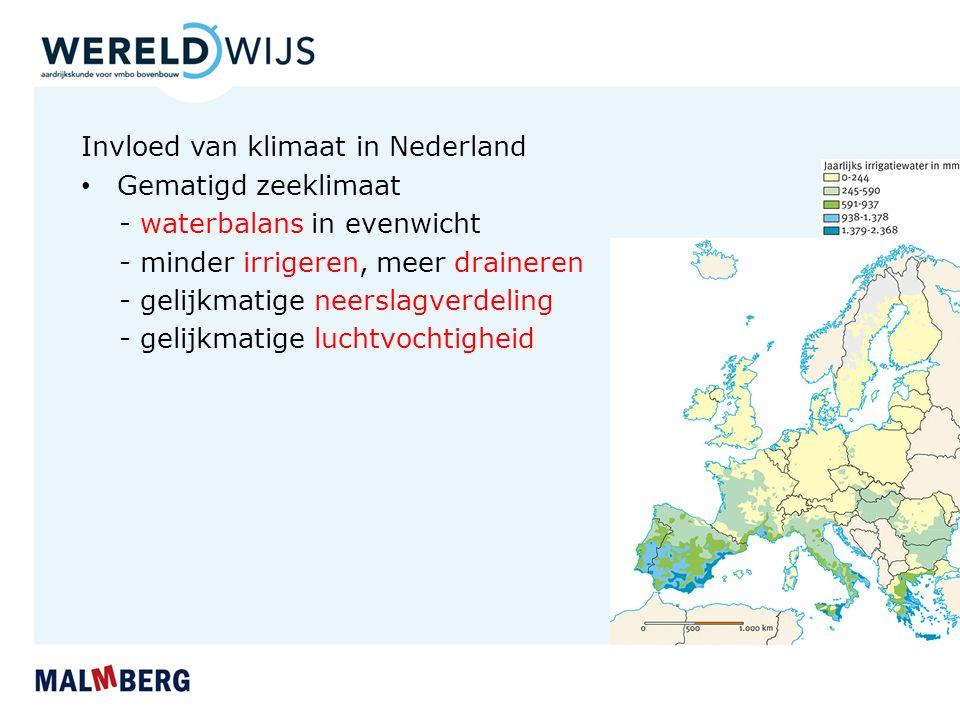 Invloed van klimaat in Nederland