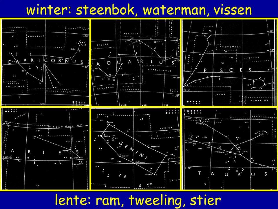 winter: steenbok, waterman, vissen