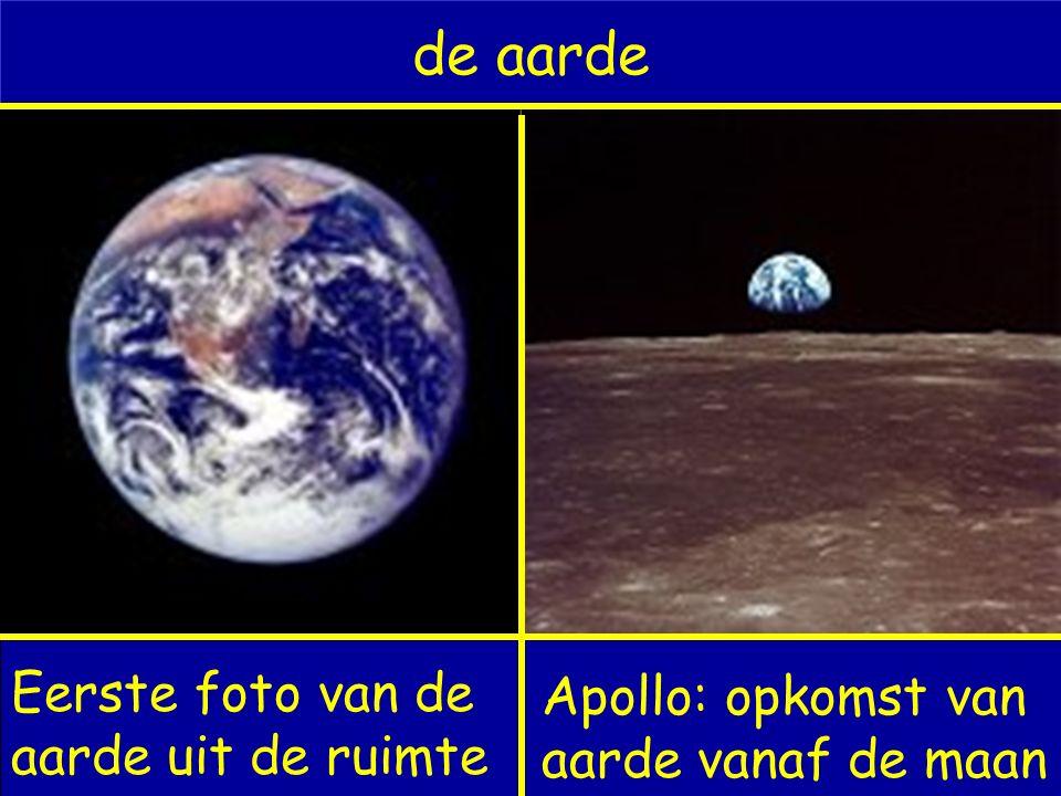 de aarde Eerste foto van de aarde uit de ruimte