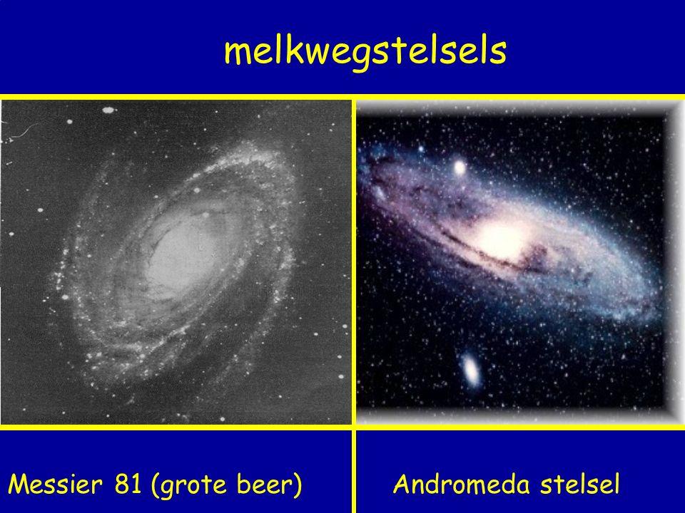 melkwegstelsels Messier 81 (grote beer) Andromeda stelsel