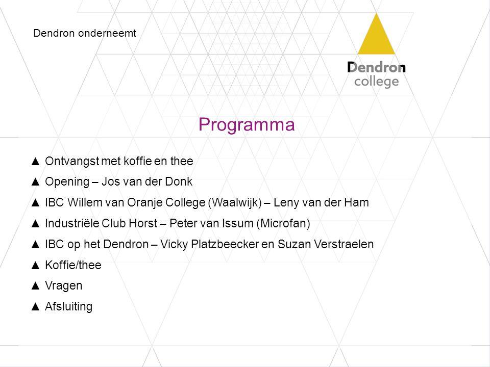 Programma Ontvangst met koffie en thee Opening – Jos van der Donk