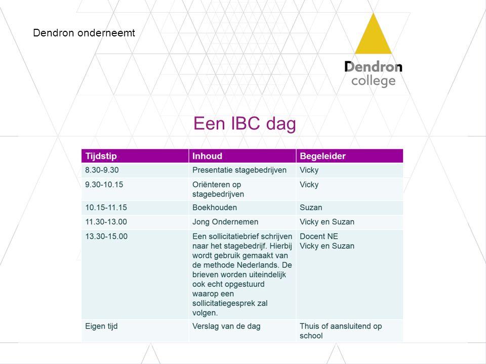 Dendron onderneemt Een IBC dag