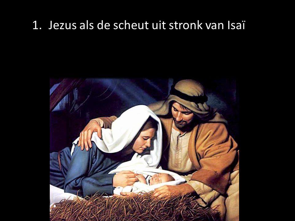 Jezus als de scheut uit stronk van Isaï