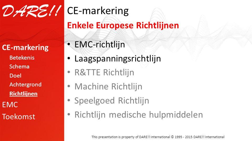 CE-markering Enkele Europese Richtlijnen EMC-richtlijn