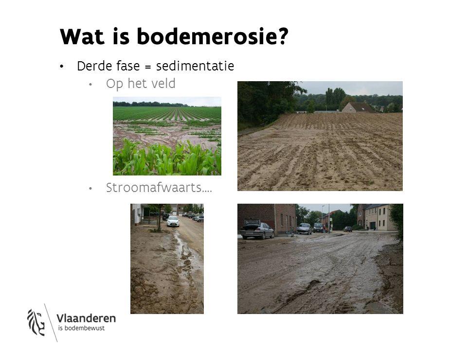 Wat is bodemerosie Derde fase = sedimentatie Op het veld