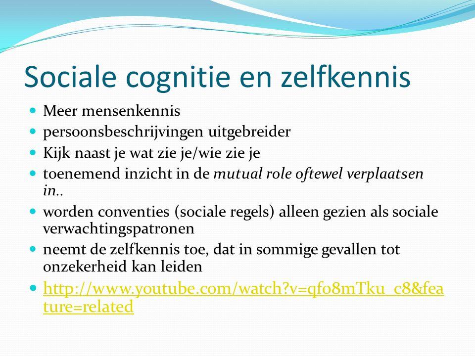 Sociale cognitie en zelfkennis