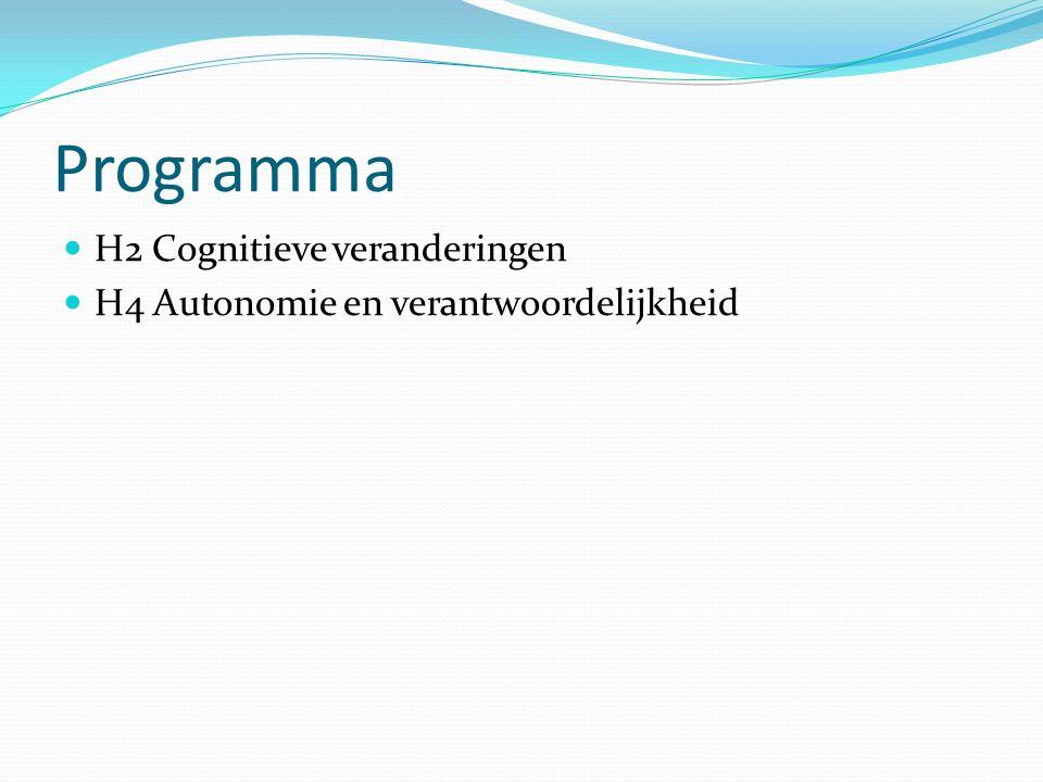 Programma H2 Cognitieve veranderingen
