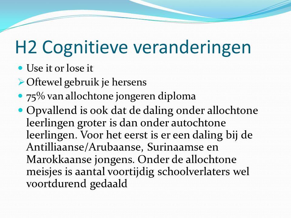 H2 Cognitieve veranderingen