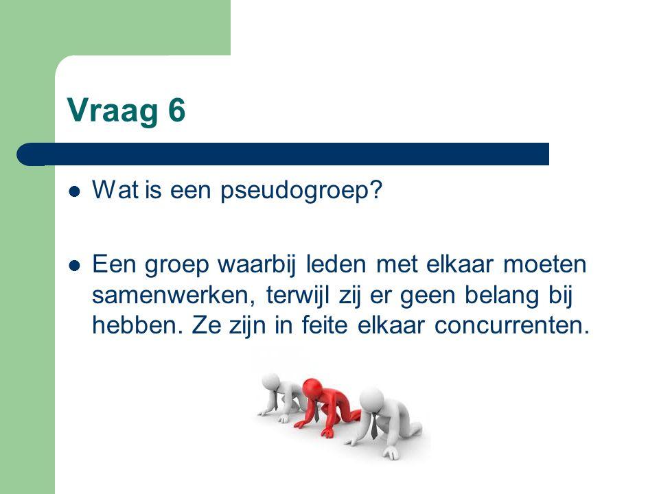 Vraag 6 Wat is een pseudogroep