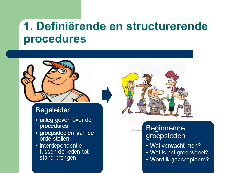 1. Definiërende en structurerende procedures