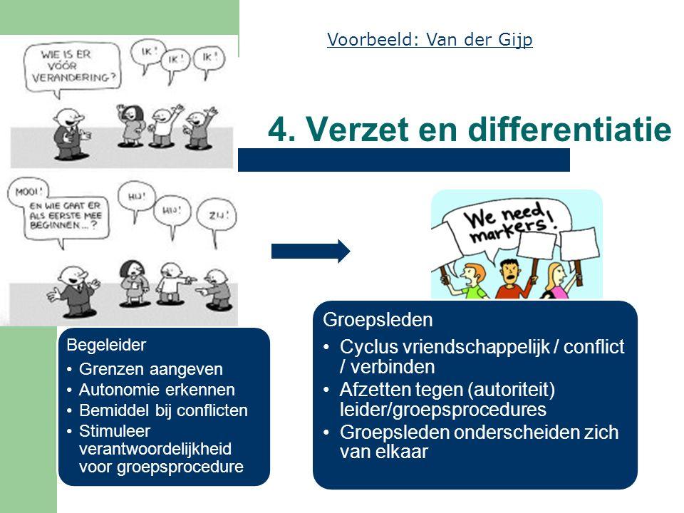 4. Verzet en differentiatie