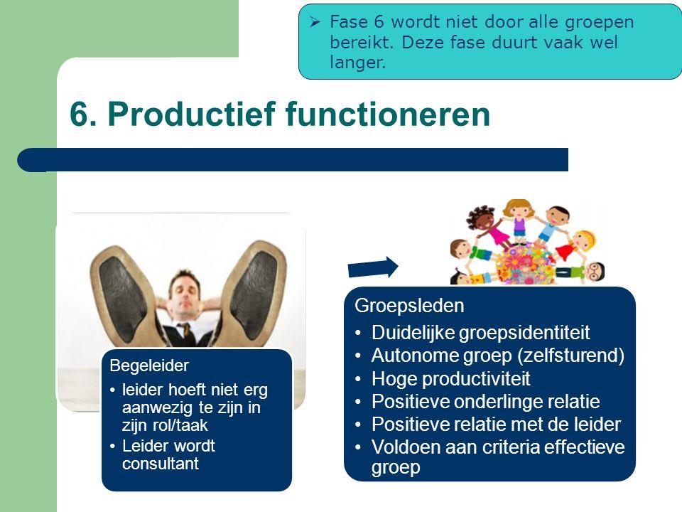 6. Productief functioneren