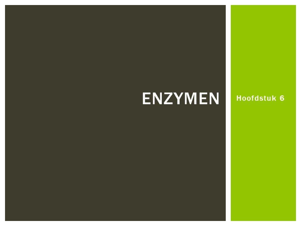 Enzymen Hoofdstuk 6