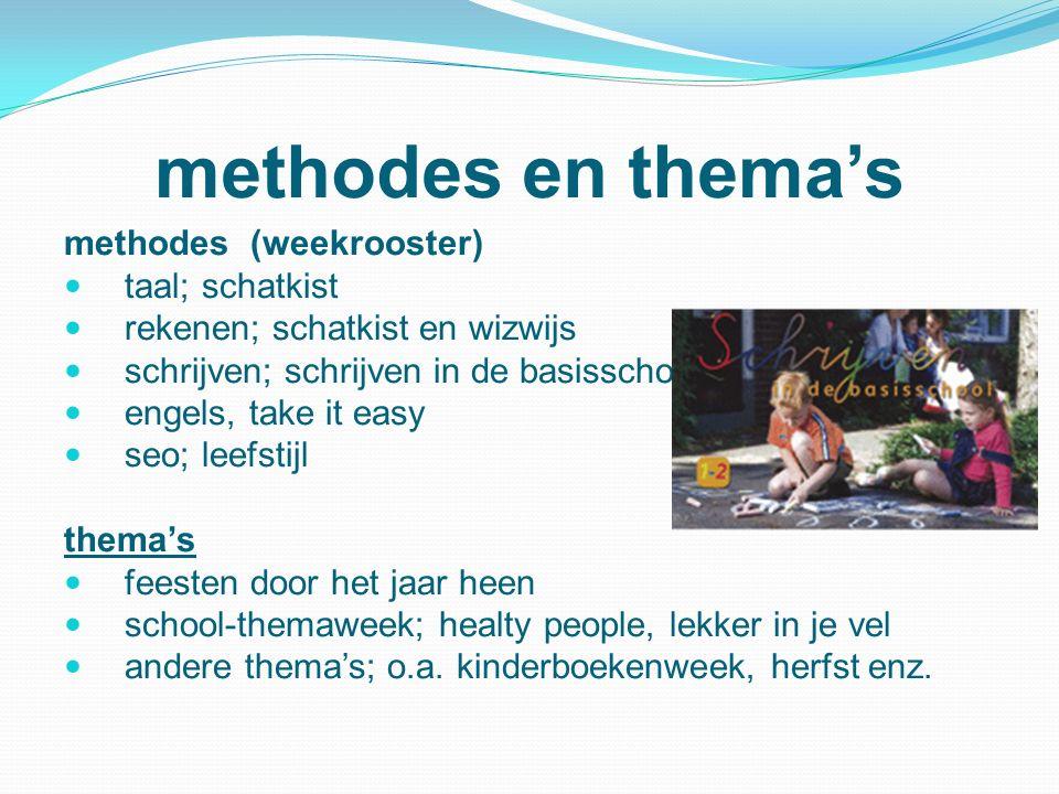 methodes en thema's methodes (weekrooster) taal; schatkist