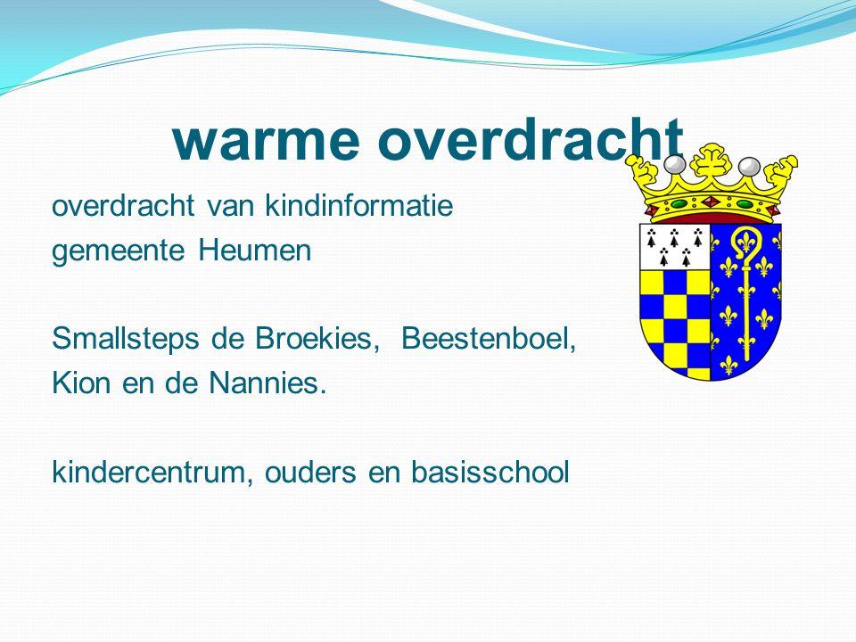 warme overdracht overdracht van kindinformatie gemeente Heumen