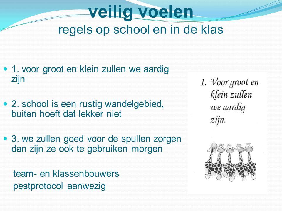veilig voelen regels op school en in de klas