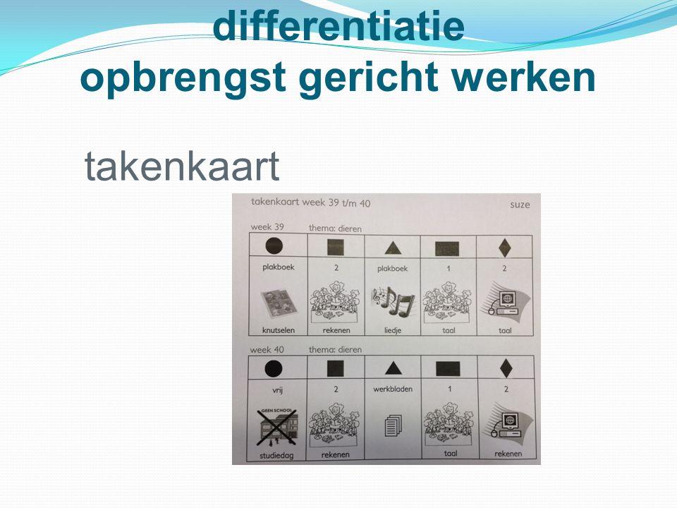 differentiatie opbrengst gericht werken