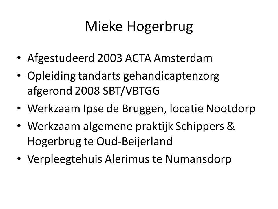 Mieke Hogerbrug Afgestudeerd 2003 ACTA Amsterdam