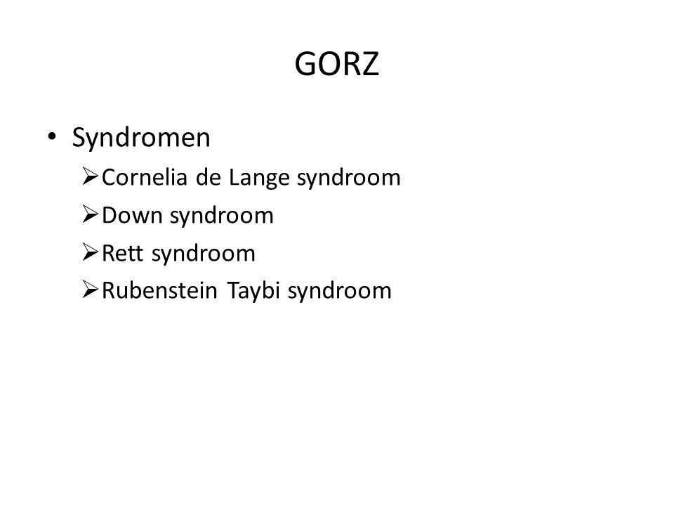 GORZ Syndromen Cornelia de Lange syndroom Down syndroom Rett syndroom