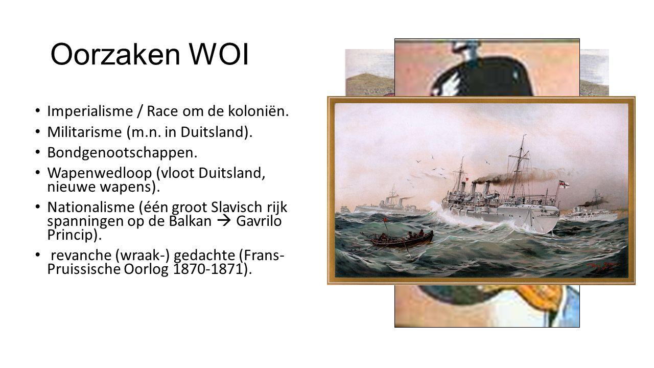 Oorzaken WOI Imperialisme / Race om de koloniën.