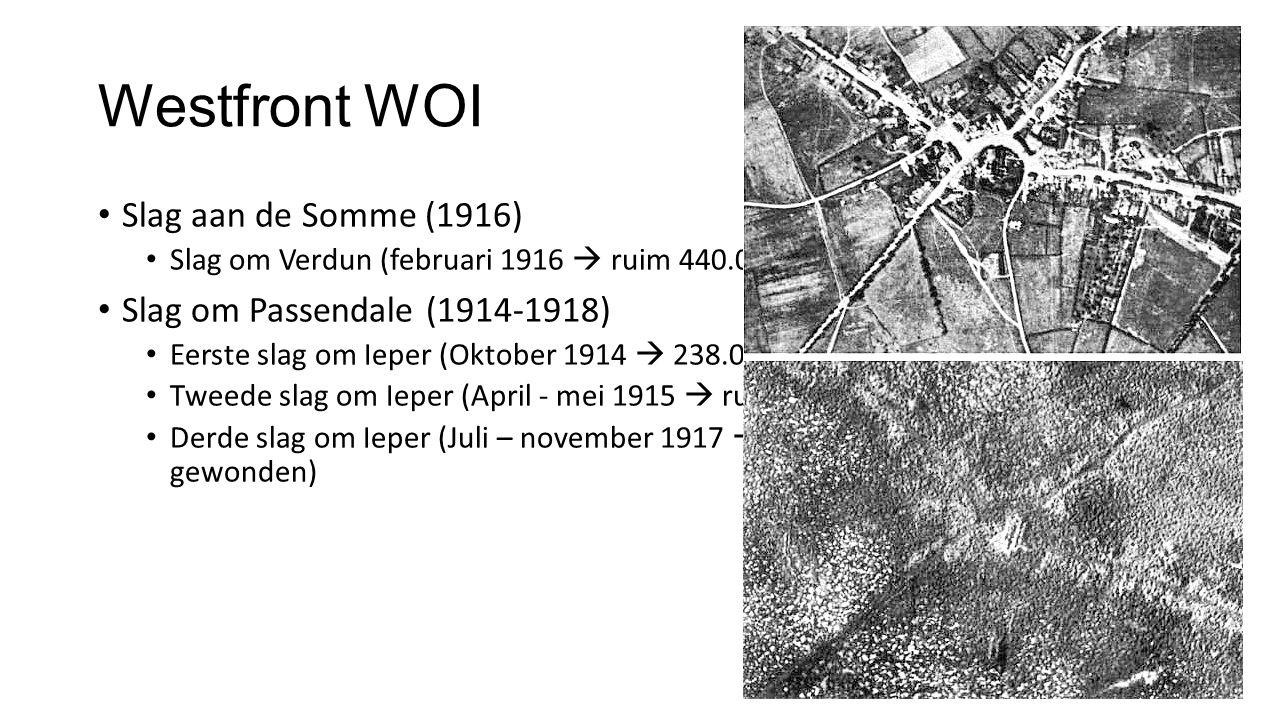 Westfront WOI Slag aan de Somme (1916) Slag om Passendale (1914-1918)