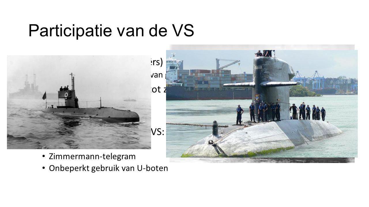 Participatie van de VS Duitse U-boten (onderzeeërs) vallen koopvaardijschepen (ENG) aan.