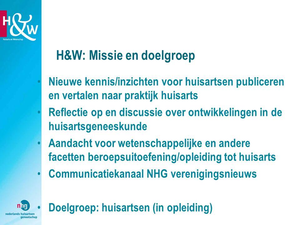 H&W: Missie en doelgroep