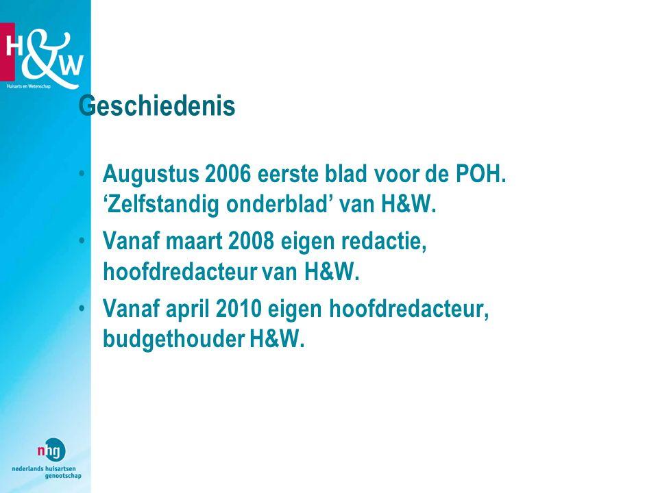 Geschiedenis Augustus 2006 eerste blad voor de POH. 'Zelfstandig onderblad' van H&W. Vanaf maart 2008 eigen redactie, hoofdredacteur van H&W.