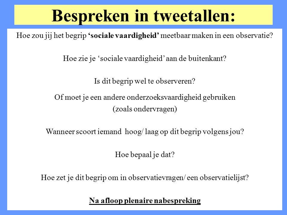 Bespreken in tweetallen: