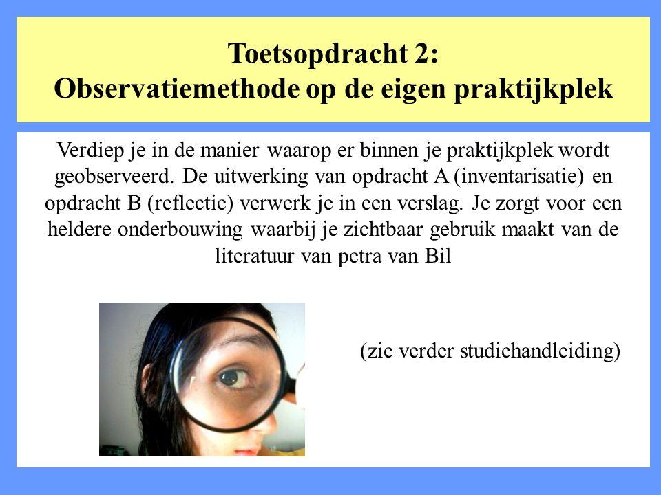 Toetsopdracht 2: Observatiemethode op de eigen praktijkplek