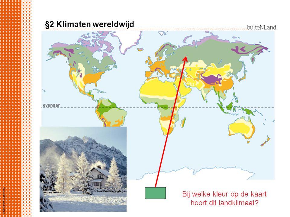 Bij welke kleur op de kaart hoort dit landklimaat