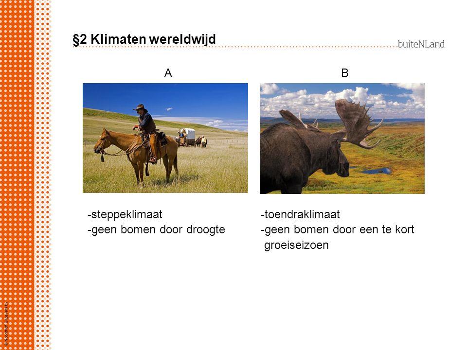 §2 Klimaten wereldwijd A B -steppeklimaat -toendraklimaat
