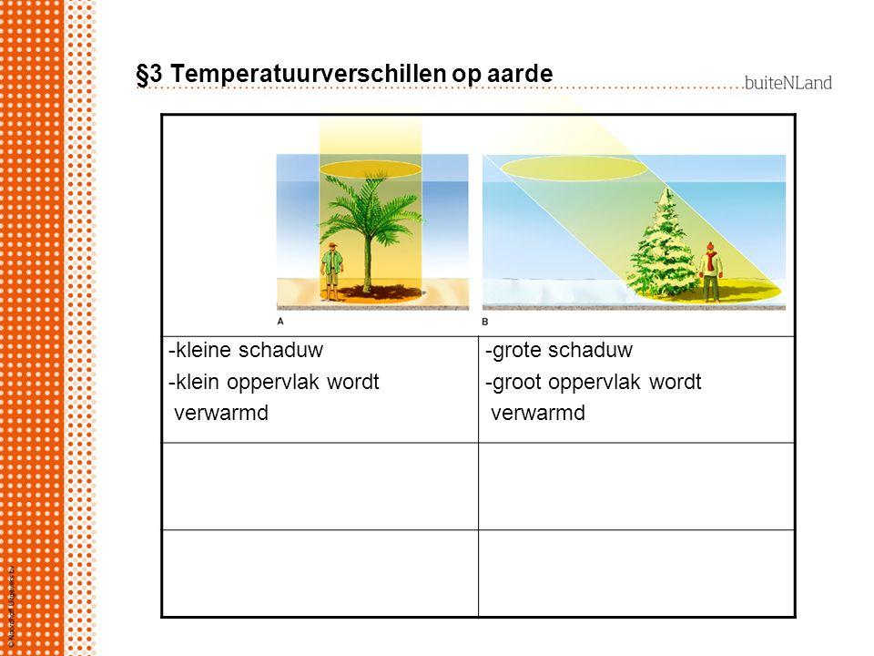 §3 Temperatuurverschillen op aarde