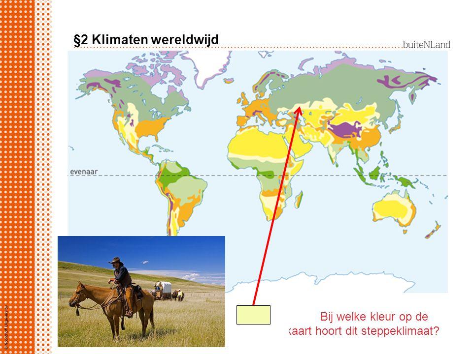 Bij welke kleur op de kaart hoort dit steppeklimaat